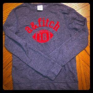 Abercrombie kids boys medium football sweatshirt